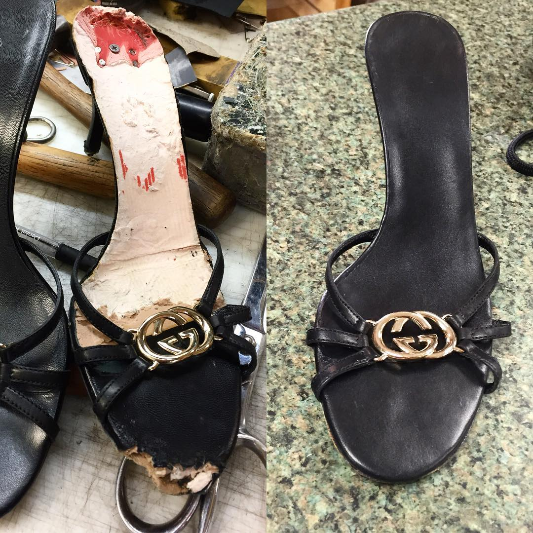 Gucci Dog-bitten Shoe Rebuild