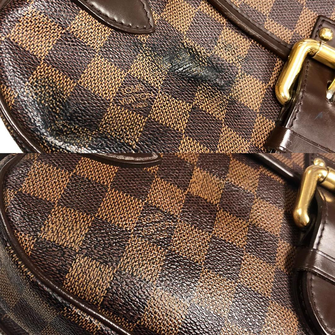 LV Damier Ebene Scratch Refinishing