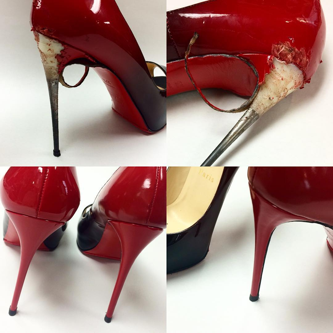 Louboutin Heel Recover and Rip Repair
