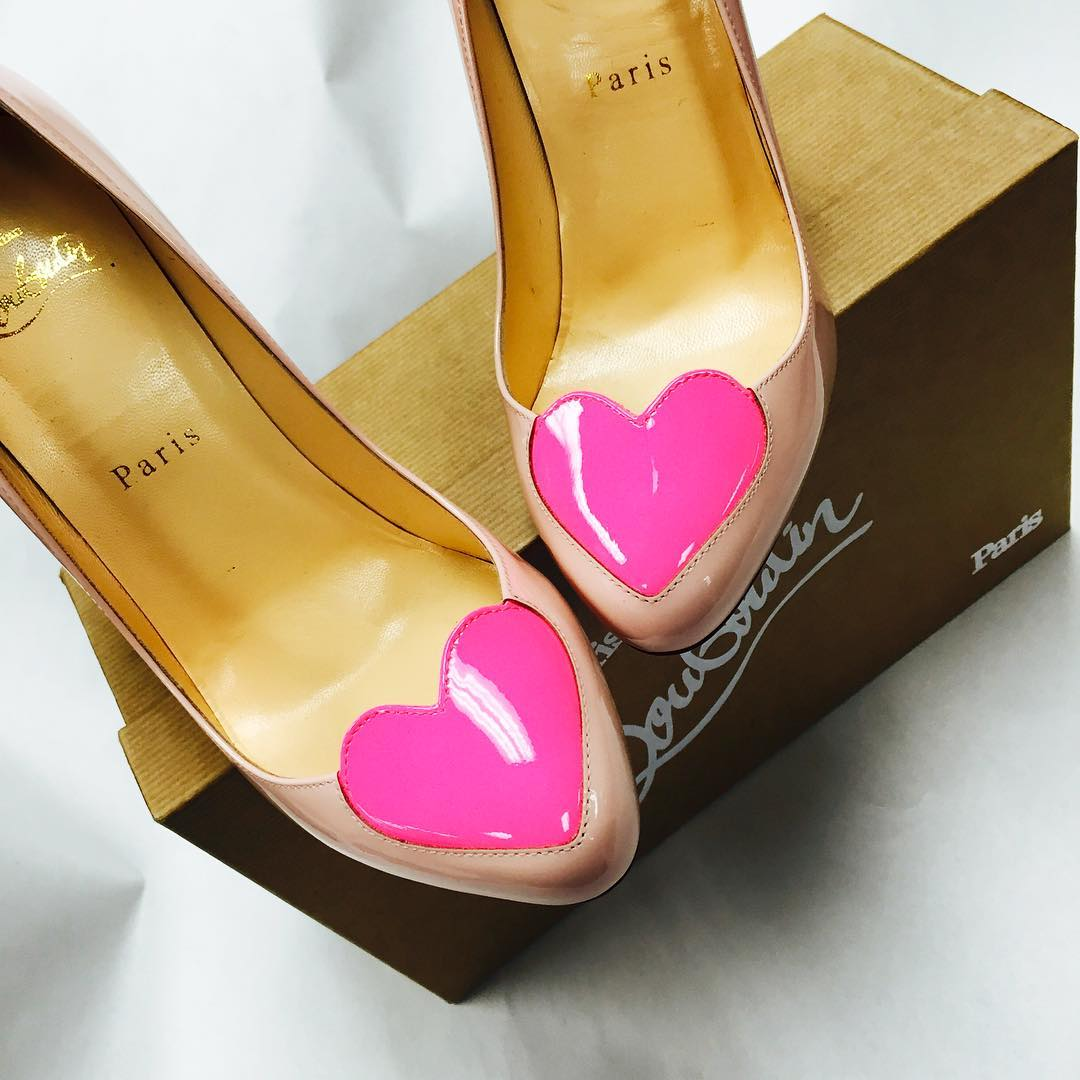 Louboutin Patent Leather Heart Heels