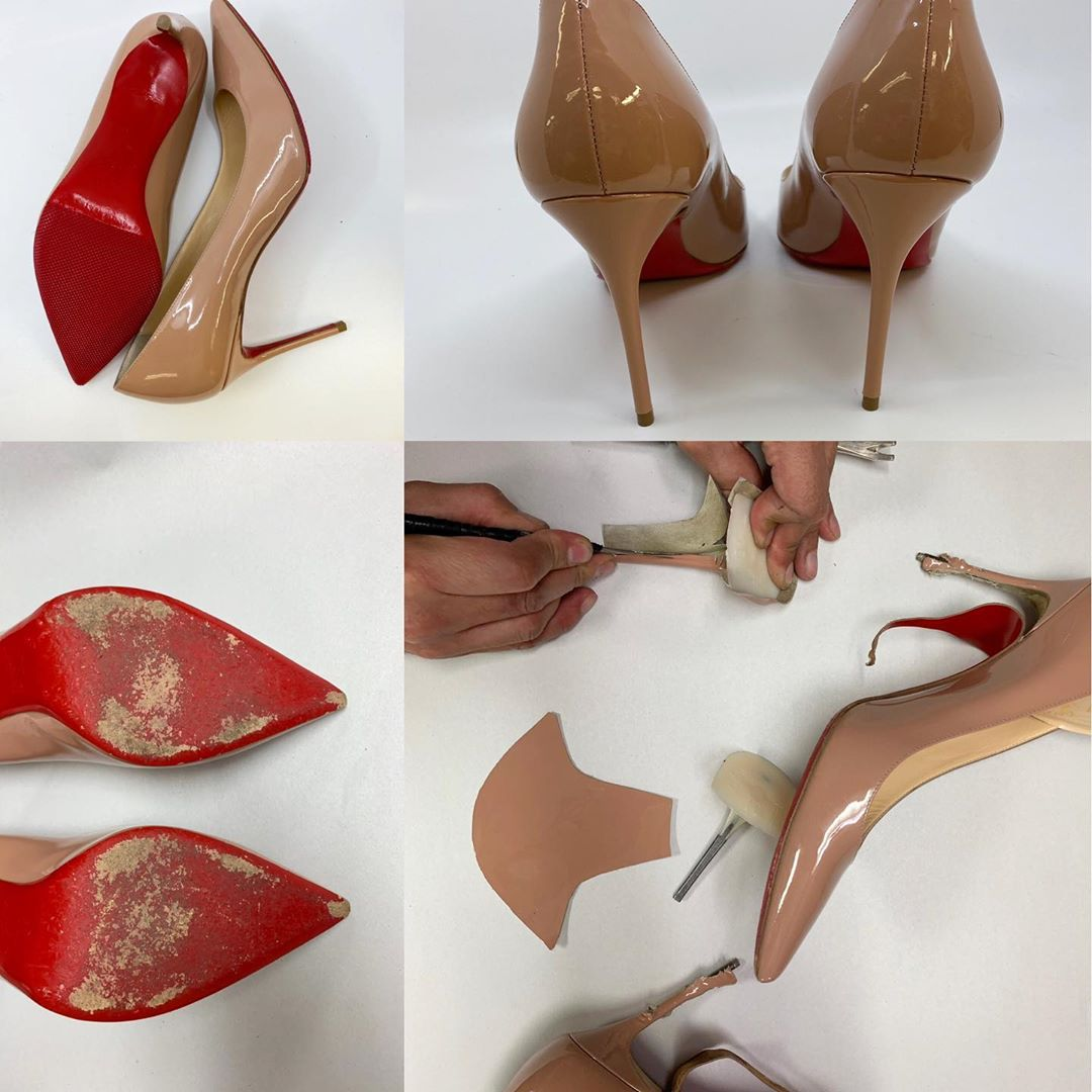 Louboutin Patent Leather Heel Replacement and Protective Soles