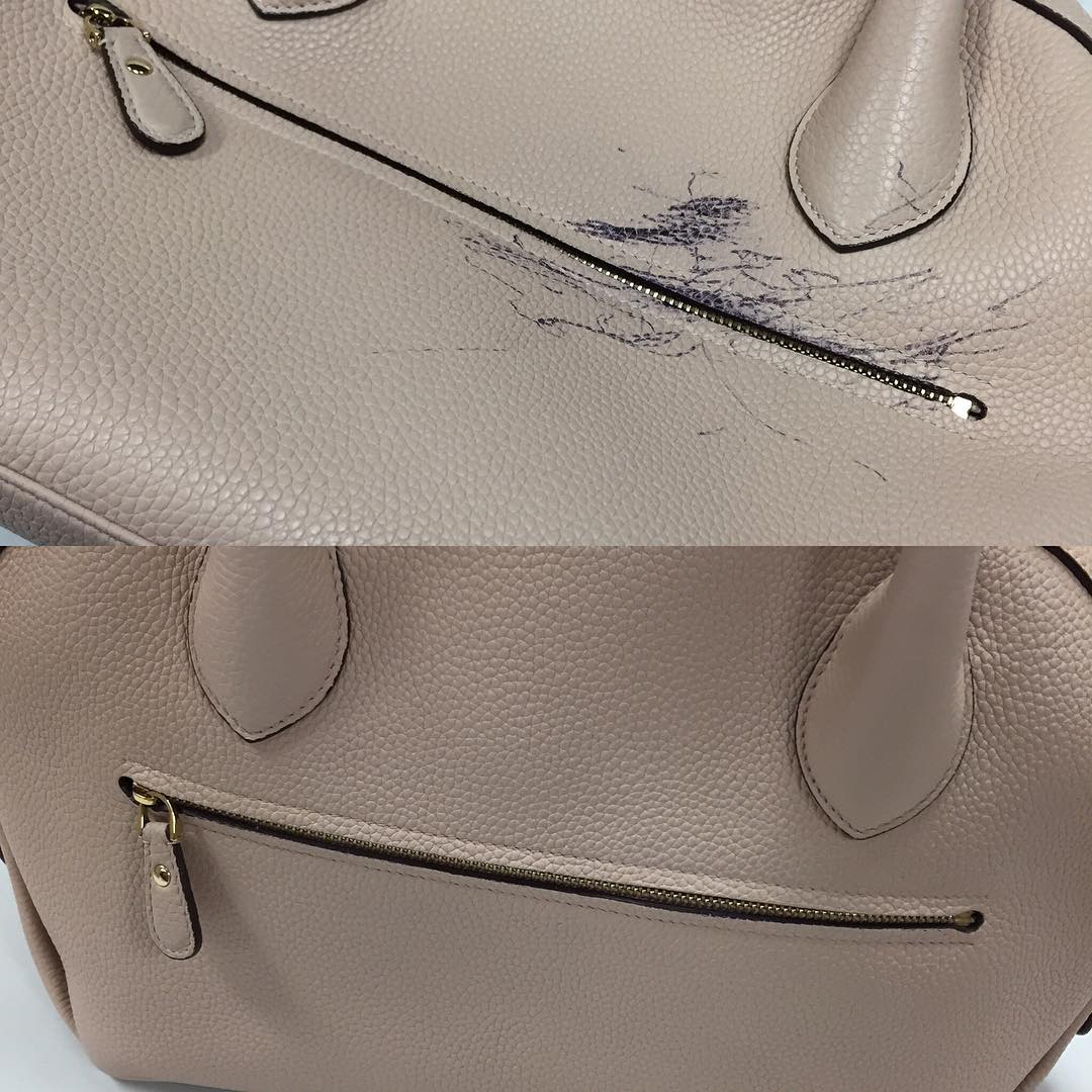 Pen Mark Removal and Leather Redye