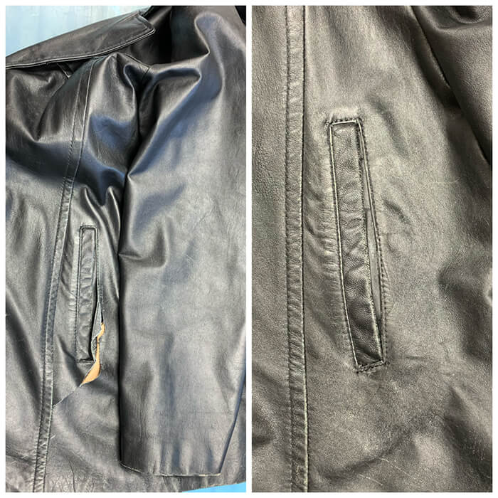 Leather Tear Near Pocket